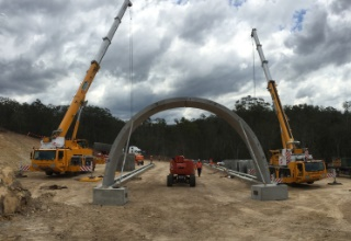 Toowoomba Second Range Crossing Project QLD TechSpan® road underpass tunnel