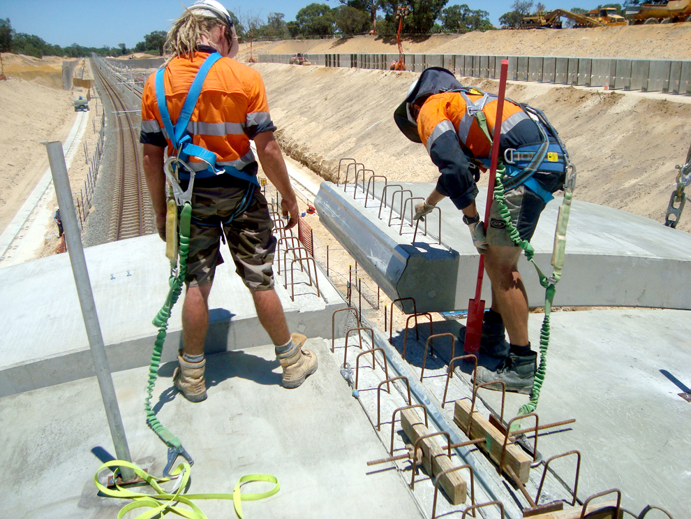 Placing TechSpan® Arch Panels - Safety Harness
