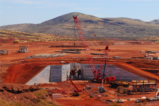 Solomon Mine TerraMet® dump wall has been completed