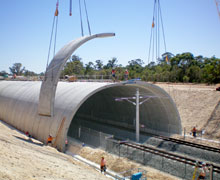 Installing TechSpan® Arch Panels for a Railway Tunnel