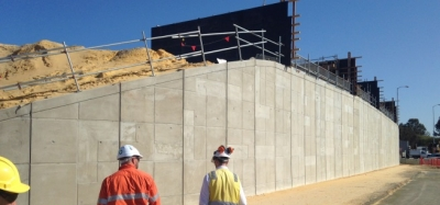 Reid Hwy Malaga Drive Interchange Reinforced Earth® TerraTilt® panels installed