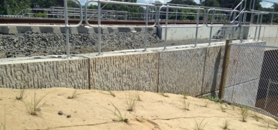 NSFC Gosford Passing Loops Post and Panel Barrier Wall